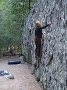 Rock Climbing Photo: Hbomb heading up The Presidential on her first eve...