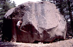 Rock Climbing Photo: BH on FA of Bob's Ramp circa 1999, Kiley's Boulder...