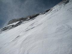 Rock Climbing Photo: Looking toward summit ridge