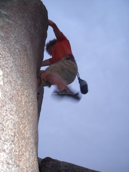 Rock Climbing Photo: Adam on the Quarter Inch Master.