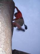 Rock Climbing Photo: Adam on the Quarter Inch Master.