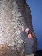 Rock Climbing Photo: Grey Lightning goes way high, up the grey dike.