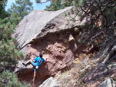Rock Climbing Photo: BH on new hb in Skunk Canyon.