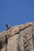 Rock Climbing Photo: The climber is above Tigers and Goats, a 5.11 spor...