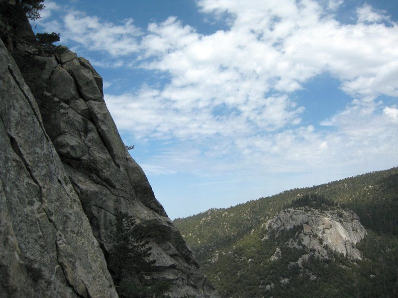 A view of Suicide Rock a few pitches up on The Long Climb on Tahquitz. Great climb!<br> <br> Taken 5/19/09