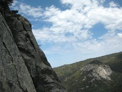 Rock Climbing Photo: A view of Suicide Rock a few pitches up on The Lon...