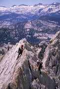 Rock Climbing Photo: Lisa Pritchett and Joan Bertini on Matthes Crest 5...