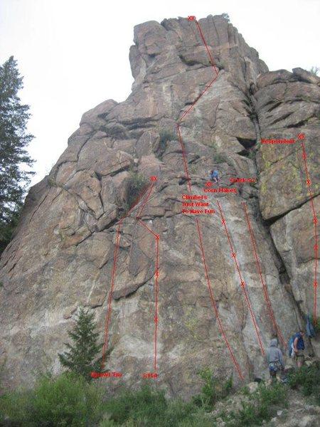 Rock Climbing Photo: Routes.