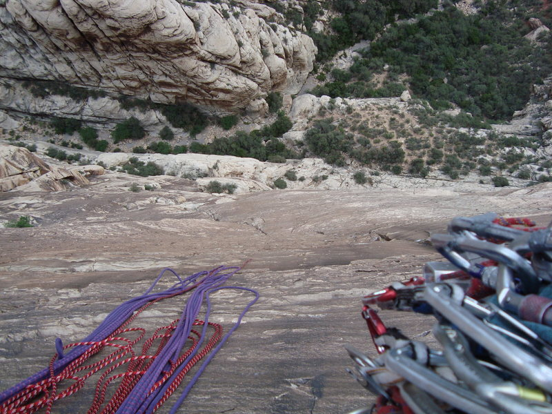Rock Climbing Photo: A view down sour mash from a top of pitch 6