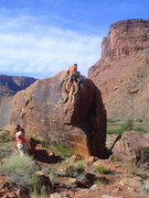 Rock Climbing Photo: Unknown arete problem in Big Bend.