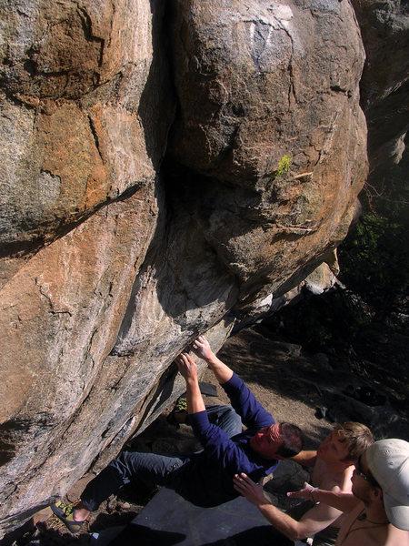 "Rock Climbing Photo: Jim Hausmann feeling ""Exposed In Darkness.&qu..."