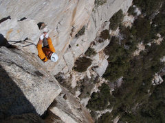 Rock Climbing Photo: The flake on Open Book