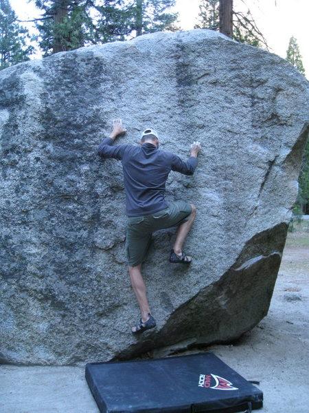 Rock Climbing Photo: Obvious black streak marking the climb.