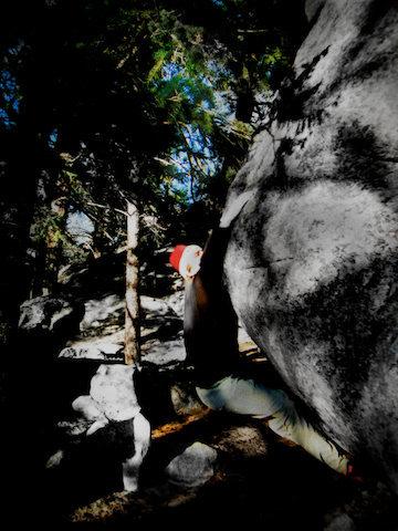 "Rock Climbing Photo: Luke Childers pushing the positive on ""The Th..."