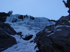 Rock Climbing Photo: December 2008 - Ice not fully consolidated, made f...