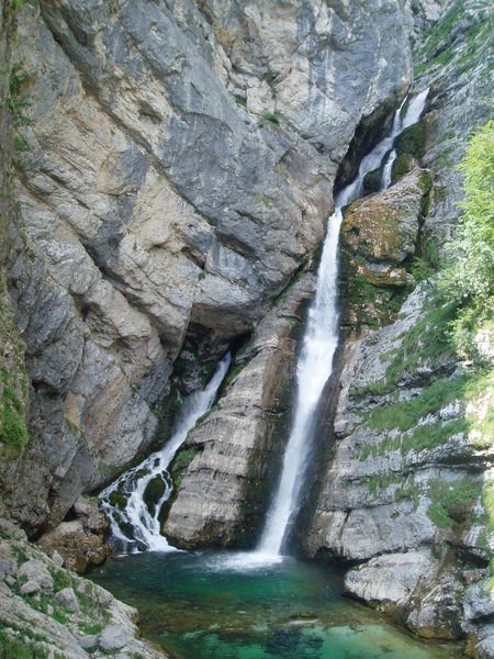 Savica, &quot;best Slovene waterfall&quot;<br> Just one of the many tourist attractions in the area.