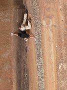 Rock Climbing Photo: Downclimbing is hard!