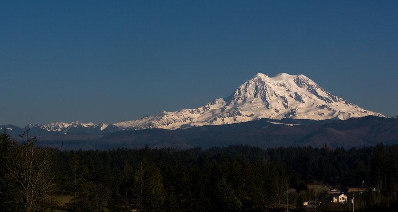 Mt. Rainier on a clear February Day.