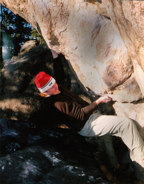 "Luke Childers climbing ""Your Orders"" on Gilligan's Island.  Evergreen Colorado."