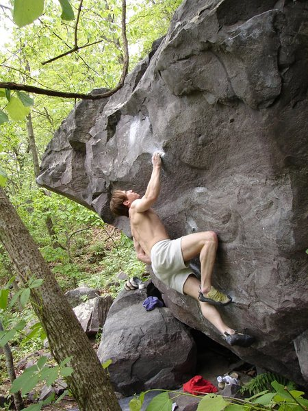 Rock Climbing Photo: Hefty in strong form.