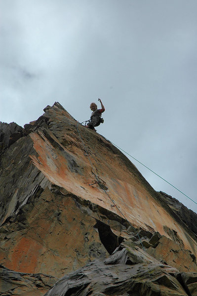 Rock Climbing Photo: nice bottom and upper headwall