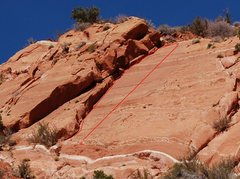 Rock Climbing Photo: A. Dihedral Crack  5.7   B. Slab Route 5.10a  PG-1...