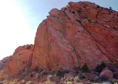 Rock Climbing Photo: Blue Routes- West Terr A. 5.7 B. 5.6 C. 5.8 D. Why...