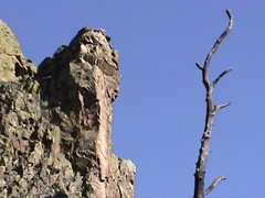 Rock Climbing Photo: The prominent Sky Pillar of Cone Mountain.