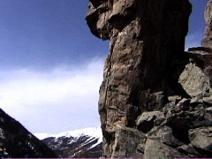 Easter Island Pinnacle on a sunny spring day, Hali Dome, Cone Mountain, Empire, CO