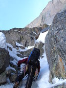 Rock Climbing Photo: Ty Cook starting up the first pitch of the North C...