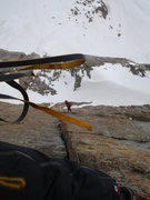 Rock Climbing Photo: Chris Sheridan trying not to get lost on the Diamo...