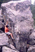 Rock Climbing Photo: Bouldering on one of many boulders and blocks, Con...