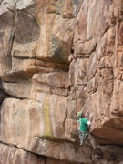 Rock Climbing Photo: The first moves give this route its name.  Photo b...