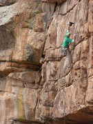 Rock Climbing Photo: Drilling on the first ascent. Photo by David Russe...