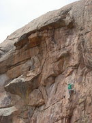 Rock Climbing Photo: Good rests in between excellent face climbing. Pho...