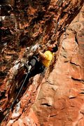 "Rock Climbing Photo: Red Rocks, The Gift 5.12d.  Photo by Adam ""Po..."