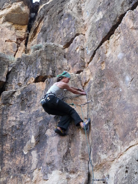 Rock Climbing Photo: me on Dealer's Choice
