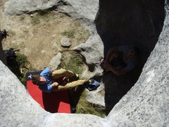 Rock Climbing Photo: jay and hosebeats in the cauldron