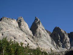 Rock Climbing Photo: Shark's Nose from above Shadow Lake. Overhanging T...