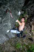 Rock Climbing Photo: mike on the continuously dynamic upper section of ...