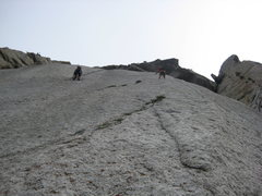 Rock Climbing Photo: double butt shot of the tension traverse into the ...