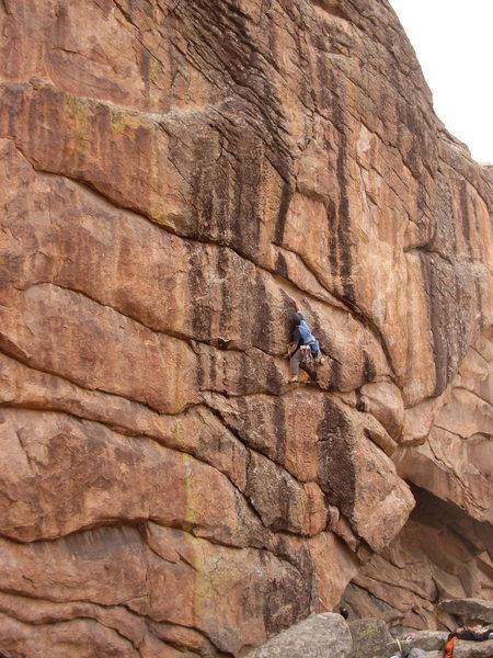 Rock Climbing Photo: Glenn Schuler on Papa.    Photo David Russell.