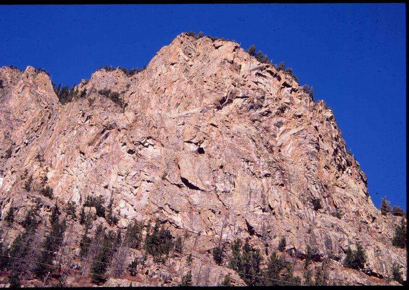 Rock Climbing Photo: The Halidome, Cone Mountain, Empire CO.