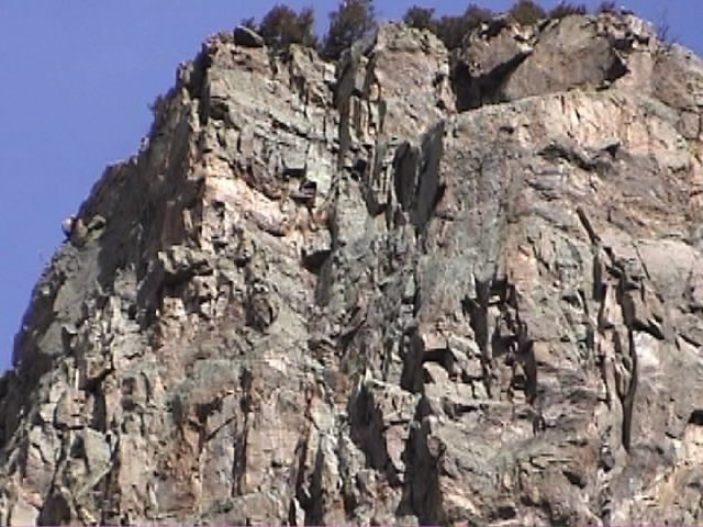 Rock Climbing Photo: The top headwall pitches of Priceless and Loosey i...
