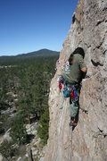 Rock Climbing Photo: Al leading Golden Poodle 5.9    4 of 4