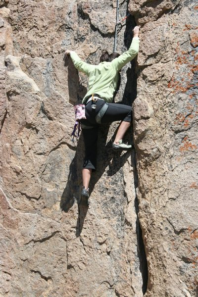 Rock Climbing Photo: Agina following Nathan on Western Farm Service 5.8...
