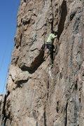 Rock Climbing Photo: Agina following Nathan on Western Farm Service 5.8...