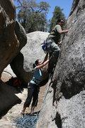 Rock Climbing Photo: Al starting up Benevolent Bruin 5.8 a bouldery sta...