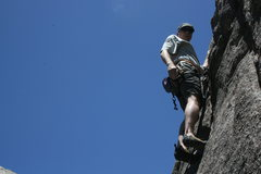 Rock Climbing Photo: Me just after the crux of Ursa Major 5.10c some fu...