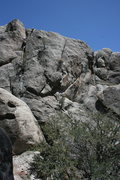 Rock Climbing Photo: Me near the top of La Paws 5.10a a trad crack lead...